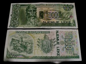 ALBANIA 1,000 LEKE 1996 = SET OF TWO = Very Rare