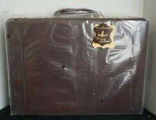 "17"" Atlantis Finemark Collection Cowhide Burgundy Attache Case Briefcase - NIB"