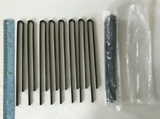 "16 Ground Stakes Anchors - Tents, Tarps, Canopies, Dog Pens 8""-10"" w/ .75"" Curve"