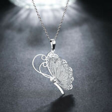 Exquisite Fashion Silver Plated Butterfly Necklace Pendant Jewelry Gift Vintage