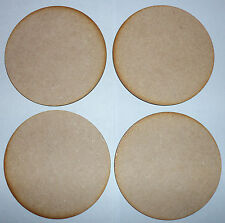 4 x 100mm (10cm), WOODEN CIRCLE, (ROUND BASE ) SHAPES LASER CUT MDF,  BLANKS