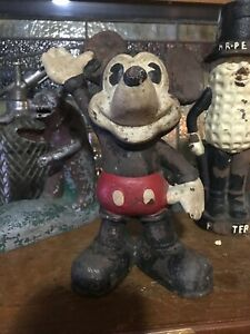 CAST IRON MICKEY MOUSE VINTAGE BANK