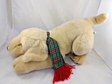 "Fiesta Tan Dog Plush w/ Scarf 17"" Long Labrador Retriever Stuffed Animal"
