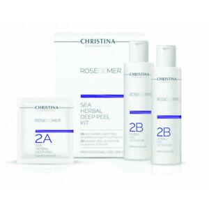 Christina Rose De Mer Sea Herbal Deep Peel  Kit Step 2A & Step 2B NEW + Freebie