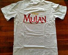 Mulan Disney White Size M Medium Cotton T-Shirt - Brand New