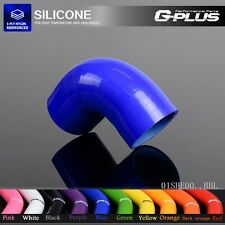 """76mm 3""""  90° Degree Hose Turbo Silicone Elbow Coupler Pipe Blue"""