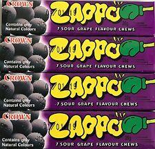 20 x Zappo Chews Sour Grape 26g Candy Buffet Sweets Party Favors Bulk Lollies
