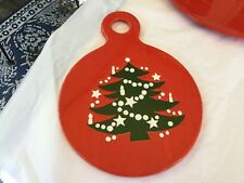 "WAECHTERSBACH CHRISTMAS TREE RED 8"" X 10"" CHEESE & CRACKER BOARD CAN HANG IT"