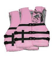 X20 Universal Adult Life Jacket Ski Vest PINK Flotation PFD  S M L XL - 2 PACK