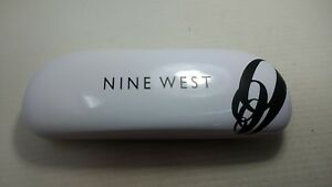 Nine West Eyeglass Clamshell Hard Case Gloss White w/Black Logo  2217d