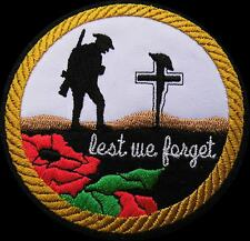 Poppy Embroidery Patch Fallen Hero'  Remember our fallen .Lest we forget(23)
