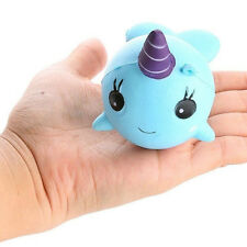 Narwhal Uni Whale Blue Pink Soft Squishy Slow Rising Collection Gift Phone Decor