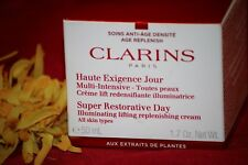 CLARINS SUPER RESTORATIVE DAY CREAM  ILLUMINATING LIFTING 1.7 OZ SEALED IN BOX