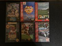 Sega Genesis - 6 Game Lot - All Case & Cartridge - Tested/Work