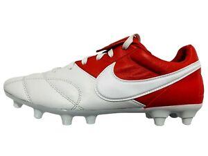 Nike Premier II 2 FG Leather Red White Soccer Cleats 917803-611 Men: 7 Women:8.5