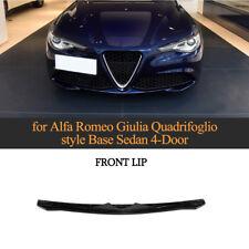 For Alfa Romeo Giulia 17-19 Front Bumper Lip Spoiler Factopry Refit Carbon Fiber
