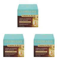 3pz CLINIANS CREMA E OLIO crema viso nutriente non grassa con Olio di Argan 50ml