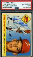 Tom Qualters PSA DNA Cert Autograph 1955 Topps Hand Signed