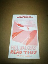 Mountain Rescue fell walkers leaflet, 4 page, paper