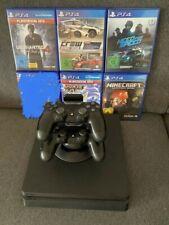 Sony PlayStation 4 Slim 1000GB Mattschwarz Spielekonsole mit 2 Controllern