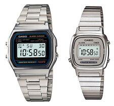 Casio A-158W+LA-670W-7 (2 orologi) Orologio Uomo Donna Vintage Nuovo Crono Polso