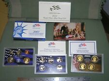 2007 -S US MINT Proof Set with Statehood Quarters & Presidential $1 - 14 coins