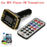 MP3 Player Wireless FM Transmitter Modulator Car Set USB SD TF MMC LCD Remote
