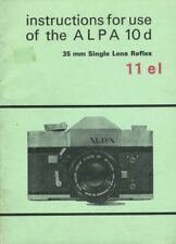 Alpa 10d Instruction Manual