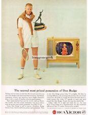 1959 RCA VICTOR Color TV DON BUDGE Tennis Grand Slam Winner VTG PRINT AD