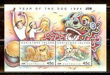 Mint Australia Christmas Island year of dog Souvenir sheet (Mnh)