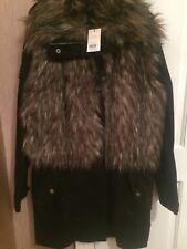 BNWT Miss Selfridge parka fur jacket coat size 12