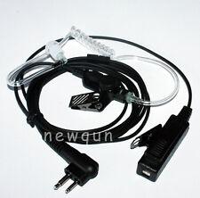 50x 2Pin Tube Headset Earphone Earpiece Mic For Motorola Portable Radio
