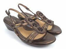 NATURALIZER N5 Comfort Falconette Women's Bronze/Brown Leather Sandals Size 10 M
