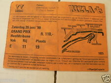 1999 TICKET DUTCH TT ASSEN 1999 GRAND PRIX,MOTO GP HOOFDTRIBUNE