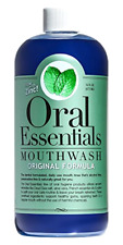 Oral Essentials Mouthwash Fresh Breath 16 Oz. Non-Toxic Alcohol/Sugar Free, New