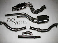 AUDI S4 2.7L TWIN Muffler Turbo-back + TIPTRONIC AUTO Downpipes and Exhaust Catb