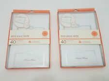 Martha Stewart 40 Dove Printable Place Seating Cards LOT of 2 Packs White Silver
