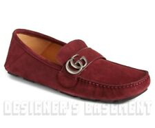 926bf4fac2d GUCCI suede 7G burgundy NOEL Marmont G WEB Driving Moccasin shoes NIB Auth   560