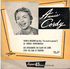 rare 45T EP: Annie Cordy: viens à Nogent + 3 titres. columbia EX