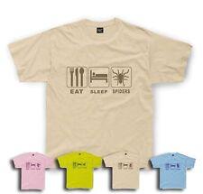 Eat Sleep Spider T-Shirt ArachnidsKids sizes 1/2yrs to 11/12 yrs
