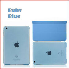 Magnetic Smart Cover+Transparent Clear Back Case for Apple iPad 2 3 4/Air/Air 2