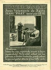 Publicité ancienne Dr Rasurel sous-vêtements santé 1920 Marboeuf issue magazine