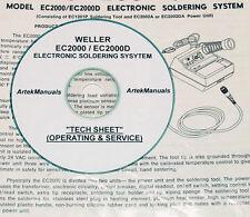 Weller EC2000 / EC2000D Soldering System, Operating & Service Documents