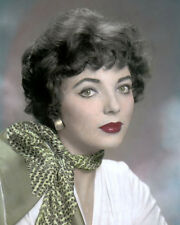 "JOAN COLLINS 1955 HOLLYWOOD MOVIE STAR ACTRESS 8x10"" HAND COLOR TINTED PHOTO"