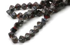 50 Red / Black Swirl Bicone Glass Beads 6 MM