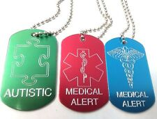 Personalised-Medical-Alert-Dog-Tag-ID-Pet-Tag-Emergency Response-Free-Engraving