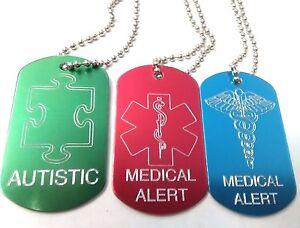 Medical Tags Free Engraving