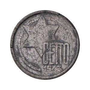Alemania -POLONIA Gueto de Lodz - 5 marcos 1943. Aluminio y Magnesio 0,8 g.