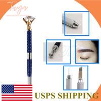 Tattoo Pen Permanent Makeup Rhinestone Eyebrow Microblading Pencil Cosmetic Tool