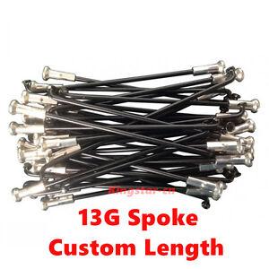 Customized length 13G E-bike spokes/ bicycle spokes ED black with nipples